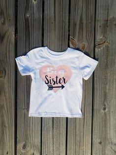 American Classics Lil Sister 3//4 Sleeve T Shirt Little Sister Girl Gift Pregnancy Announcement Toddler Girl