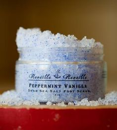 Peppermint Vanilla Dead Sea Salt Foot Scrub