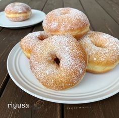 Yummy Waffles, Delicious Donuts, Donut Recipes, Sweets Recipes, Cooking Bread, Cooking Recipes, Sweet Pastries, Bread Cake, Japanese Sweets