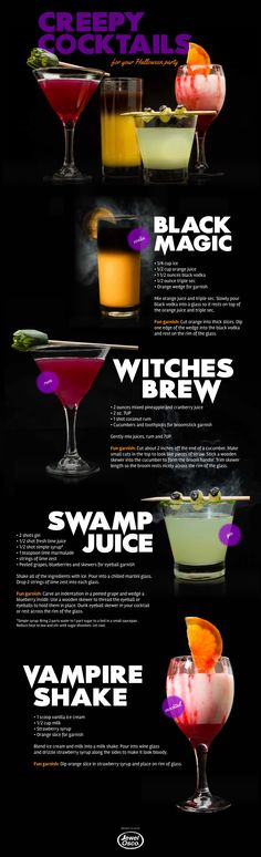 Creepy Cocktails for your Halloween Party