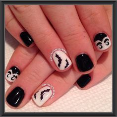 More Halloween/Breast Cancer Awareness Month nails! Jack ...