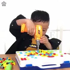 Building Block Games Set With Toy Drill & Toolset-Develop Fine Motor S – vowdealshop Building Block Games, Diy Gifts For Christmas, Diy Furniture Videos, Kids Videos, Business For Kids, Jouer, Fine Motor Skills, Toys For Girls, Educational Toys