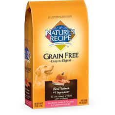 Nature's Recipe Grain Free Easy to Digest Salmon, Sweet Potato and Pumpkin Recipe Dry Dog Food, 4-Pound ** You can find out more details at the link of the image. (This is an affiliate link) #DogFood