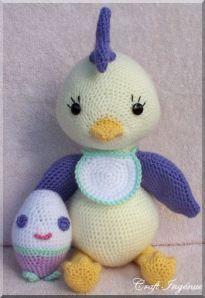 Crochet amigurumi bird, free pattern