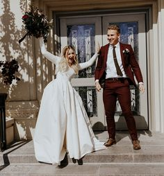modest wedding dress with long sleeves from alta moda. photo by blake hogge