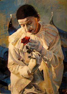 """Venice Clown"" by Marco Ortolan Art Du Cirque, Pierrot Clown, Clown Paintings, Figurative Kunst, Send In The Clowns, Aesthetic Art, Dark Art, Art Inspo, Venice"