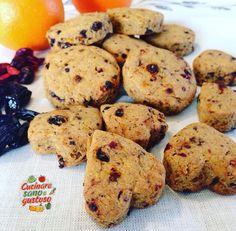 Biscotti profumati e friabili agli agrumi e frutti rossi. Senza zuccheri aggiunti e senza burro, latte e uova !