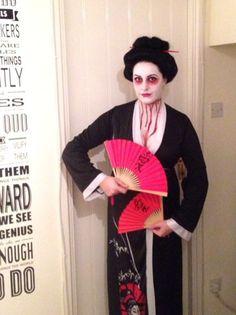 Zombie/undead geisha fancy dress #halloween