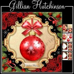 4 page 7x7 Christmas themed topper, decoupage, cut and fold gift tag, blank insert, text insert and mixed tiles.
