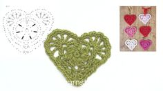 How to crochet the Christmas heart in DROPS Extra 0-1394