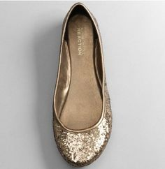 Gold wedding flats for dancing! Comfy Wedding Shoes, Gold Wedding Shoes, Wedding Flats, Sparkle Flats, Gold Flats, Cute Shoes, Me Too Shoes, Awesome Shoes, Crazy Shoes