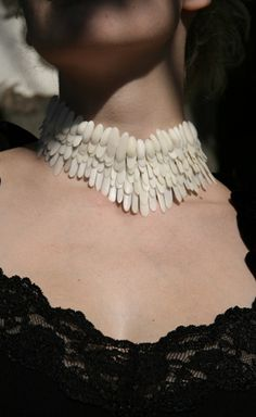 Necklace | Delphine Jaulhac.  Vegetable ivory.