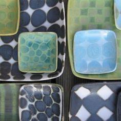 Assemblage of small plates by Sarita Koivukoski
