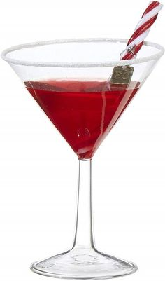 Cosmo Martini Christmas Cocktail Ornament