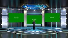 Echnology Style Stage Virtual Set | Datavideo Virtualset Virtual Studio, Light Project, Visual Effects, Stage, Entertainment, Lights, Design, Lighting, Scene