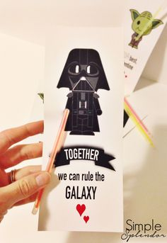 Any one else rushing around for last minute Valentine's? FREE printables on the blog today for all the Star Wars lovers out there. www.SimplestofSplendor.com