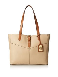 LAUREN Ralph Lauren Women's Landrey Simple Tote, Stone, http://www.