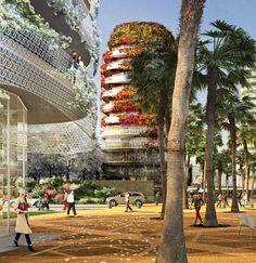 Architecture Vegetale par Edouard Francois : Les Jardins dAnfa Casablanca Maroc