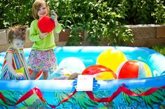Make your own ball pit. Inflatable pool + balls in all different sizes = tons of fun