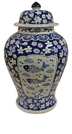 """Blue and White Porcelain"" By InStyle-Decor.com Hollywood, for more beautiful blue and white inspirations use our search box entering term ""blue and white"" blue and white porcelain, chinese blue and white, chinese blue and white porcelain blue and white planters, blue and white porcelain vases, blue and white porcelain temple jars, blue and white porcelain ginger jars, blue and white vases, blue and white temple jars, blue and white ginger jars, home decor, home decorating ideas,"