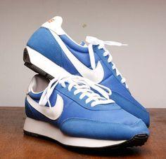 Nike Vintage Running Shoe in Blue Waffle