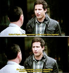 """31 """"Brooklyn Nine-Nine"""" Moments That Are All Funny, No Filter Brooklyn Nine Nine Funny, Brooklyn 9 9, Jake And Amy, Comedy, Andy Samberg, Funny Relationship Memes, Relationship Goals, Rookie Blue, Parks N Rec"""