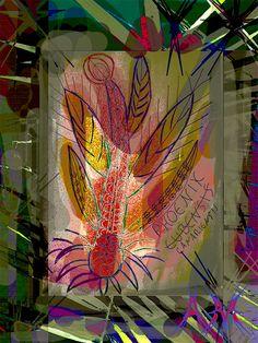 """Andrea Mora """"Phoenix 4"""" Mixed Media 80*60 cm #art #kunst #mixedmedia"""