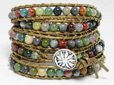 Chan Luu leather wrap bracelet beaded leather by WrappedInLeather, $64.95