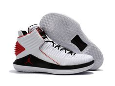 half off f3617 323eb Air Jordan 32 White Black-Varsity Red Basketball Shoes For Sale – Jordan  Shoes – Michael Jordan Shoes