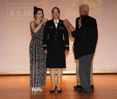 https://flic.kr/p/KeLEug | Mouton 1 | 2nd Lt. Sophie Mouton from The Ohio State University, is commissioned as a second lieutenant in the United States Army at Fort Knox, Ky., July 20. Photo by Emily LaForme