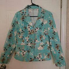 Cato denim jacket Adorable Cato denim jacket. Turquoise, white, tan and black. Gently loved. Great colors. Cato Jackets & Coats Jean Jackets