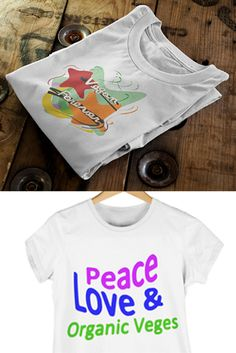 Vegan Forever and Peace,Love& Veges T-Shirts...cool gift ideas
