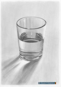 Glass of Water - Graphite Drawing by PauloPPereira on DeviantArt