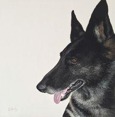 Pet painting portrait by Artist Ryan Kennedy