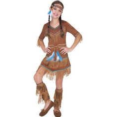 Girls Dream Catcher Cutie Native American Costume - Party City mabey for alvarado Peter Pan Fancy Dress, Fancy Dress Up, Indian Halloween Costumes, Halloween Costume Shop, Halloween City, Indian Costume Kids, Native American Dress, Dream Catcher Native American, For Elise