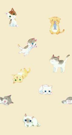 Adorable kittens phone wallpaper
