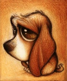 Cartoon Drawings An inspirational showcase of fabulous pencil drawings from some truly talented artists around the web. Cute Drawings, Drawing Sketches, Pencil Drawings, Dog Drawings, Sad Sketches, Sketching, Easy Animal Drawings, Drawing Drawing, Dog Art