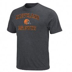 Cleveland Browns Distressed Heart and Soul Tee Shirt by VF S -- Read more reviews of the product by visiting the link on the image.