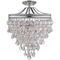 Crystorama Calypso 3 Lights Chrome Semi-Flush