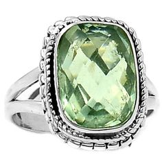 Green-Amethyst-925-Sterling-Silver-Ring-Jewelry-s-8-SR136393