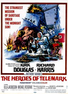 The Heroes of Telemark (1965) poster (Restoration performed by Darren Harrison)
