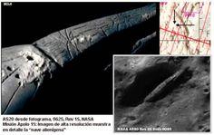 #Apolo20: Nave espacial extraterrestre y cuerpos en la Luna.