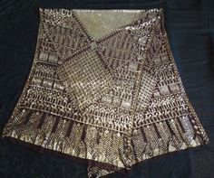 Perfect Large Antique Vintage 1920s Assuit Shawl Golden Metal | eBay