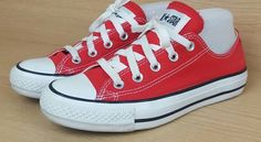 e40734fd226f Converse All Star canvass flats shoes trainers 4 Red