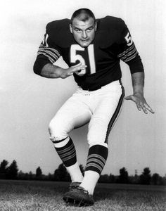 Dick Butkus:  Former player for the Chicago Bears. He was inducted into the Pro Football Hall of Fame and is widely regarded as one of the best linebackers of all time