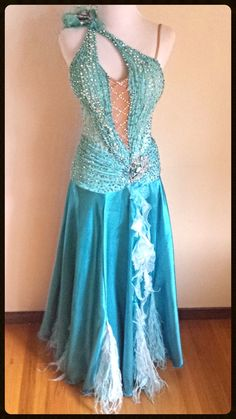 Morning Frost - smooth dress for rent.  Dazzle Dance Dress Rentals