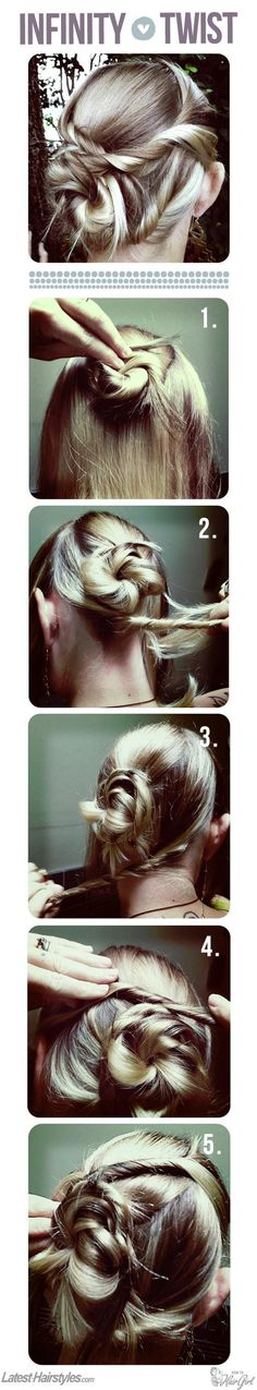 Infinity Twist Hair Tutorial - Hairstyles and Beauty Tips