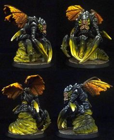 All of the Cthulhu Wars beasties I've painted so far. (Servitor added 3/4/16) - Page1