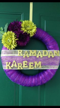 Ramadan Wreath, made by me  Ramadan Kareem. Taking orders now  contact me for details on Daliakmoharram@gmail.com