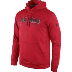 Mens Tampa Bay Buccaneers Nike Red KO Speed Wordmark Performance Hoodie